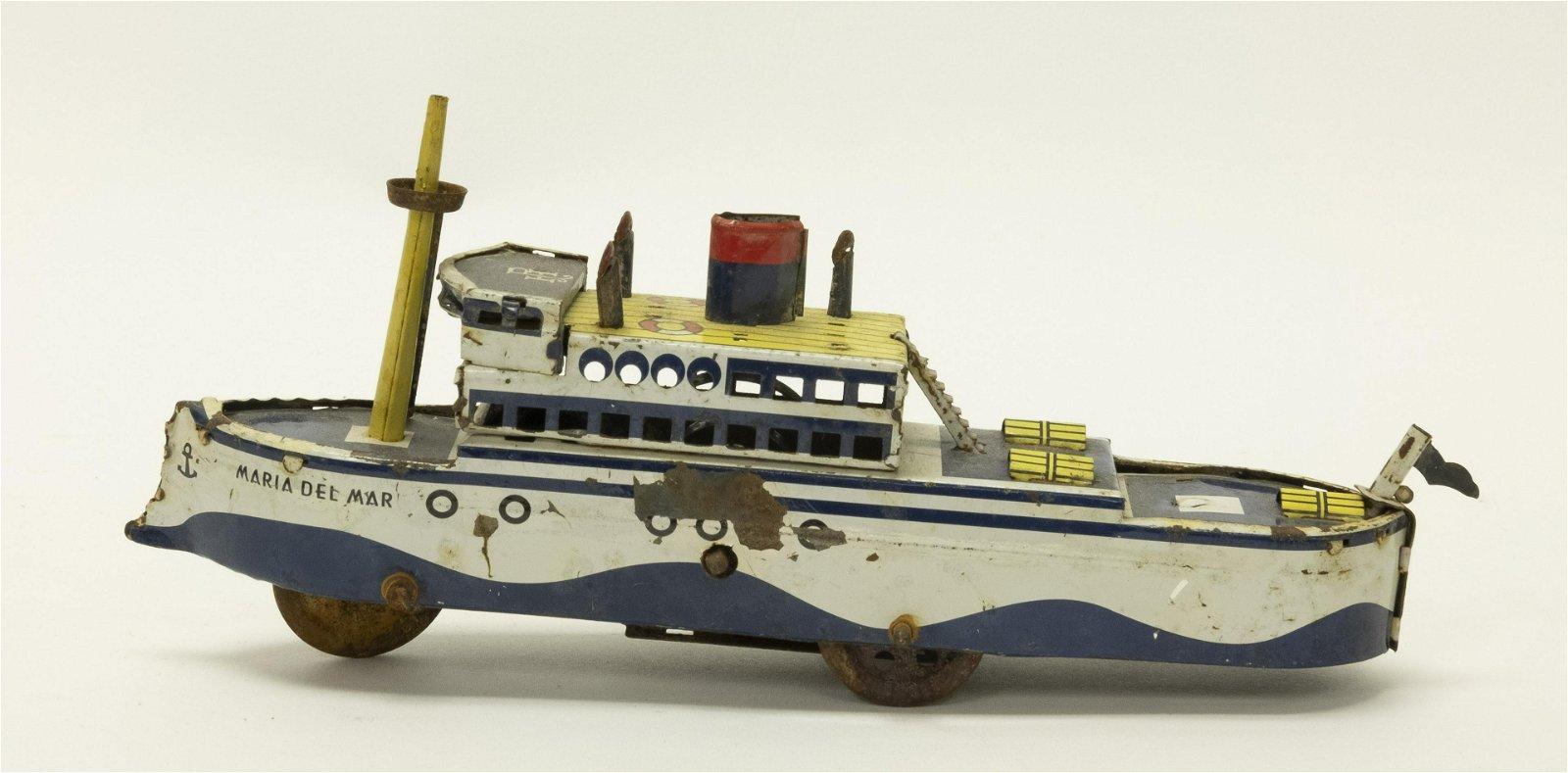 Ship Tin Nickel Toy