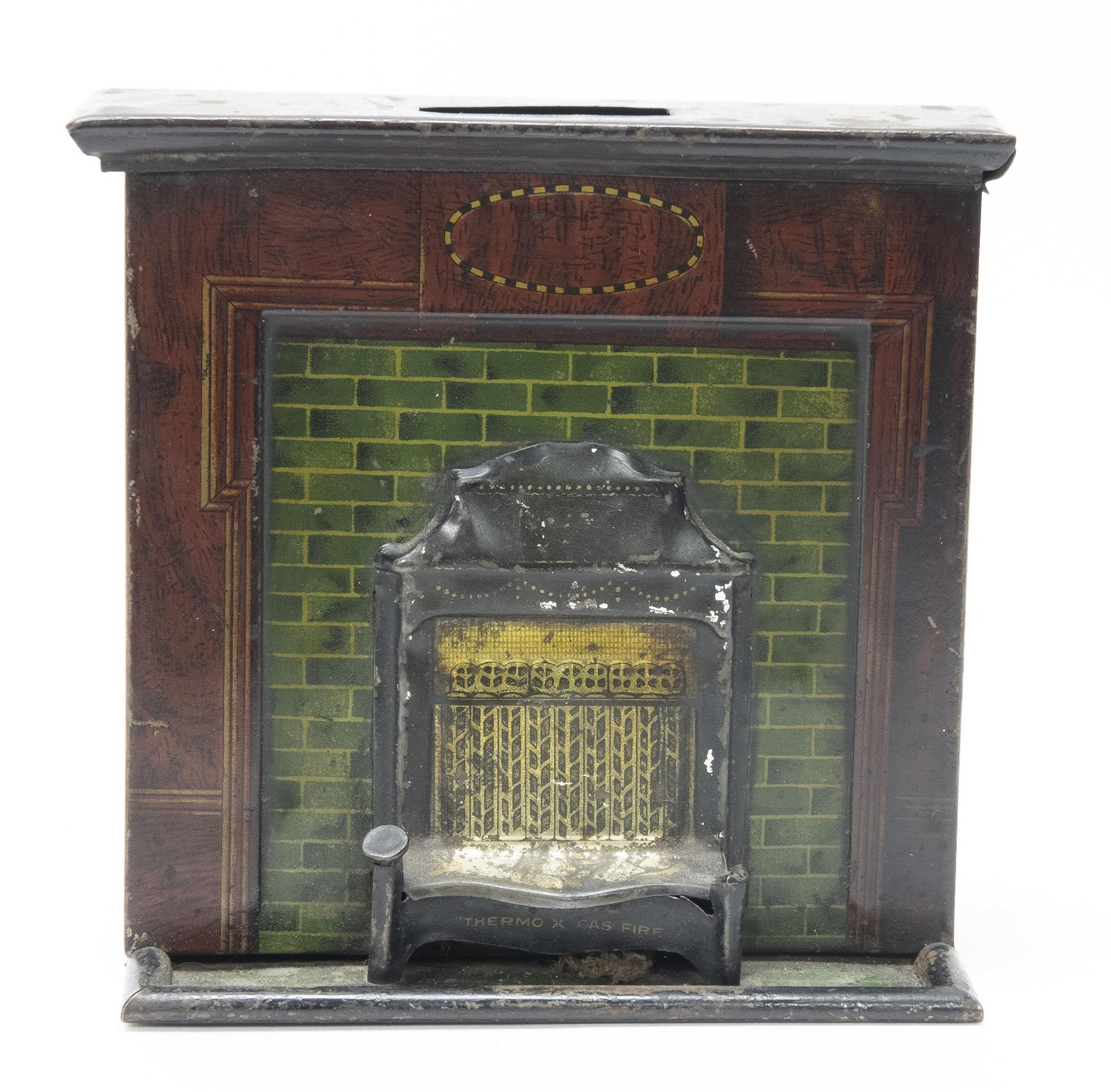 Thermo X Gas Fire Tin Still Bank