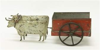 George Brown Tin Double Oxen Cart