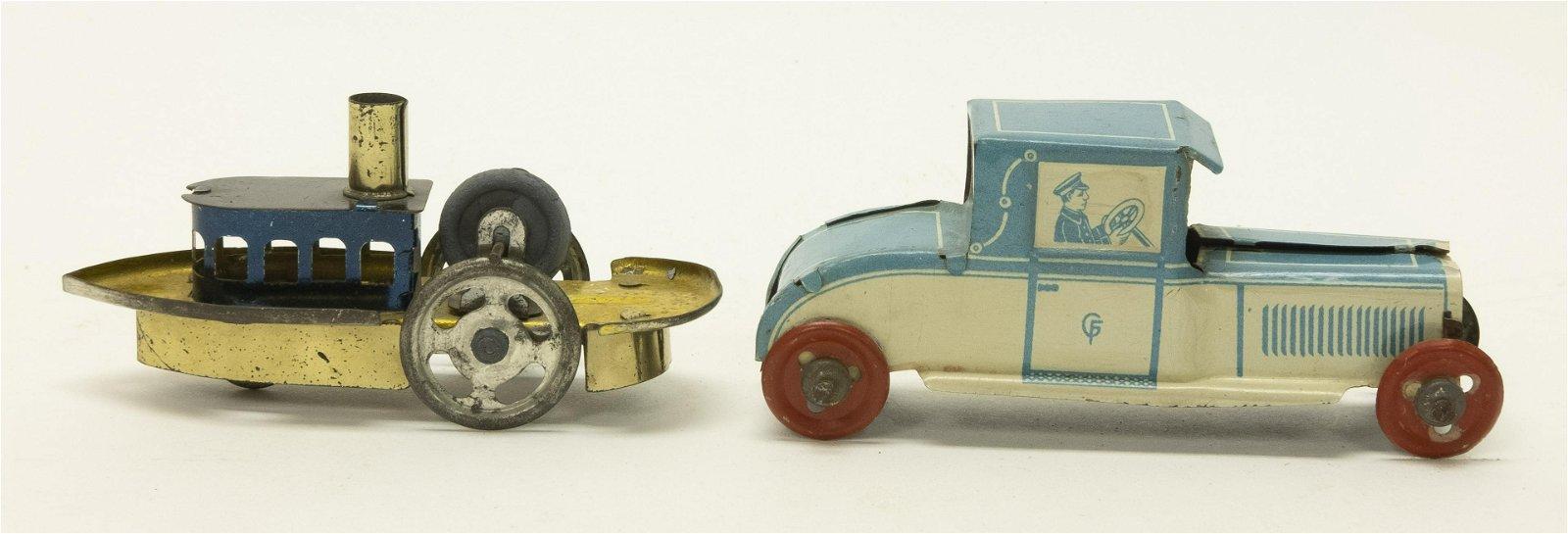 Tug Boat & Automobile Penny Toys