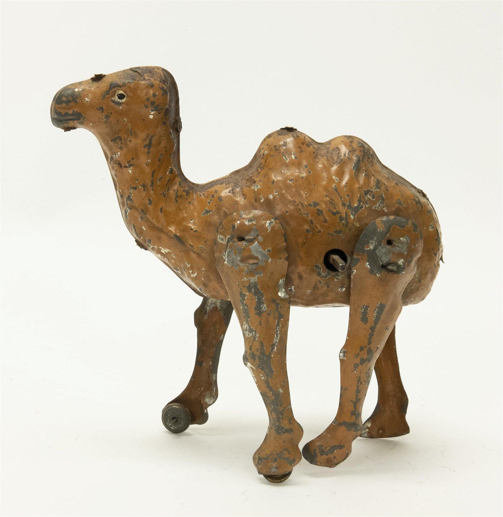 German Tin Hand Painted Windup Camel