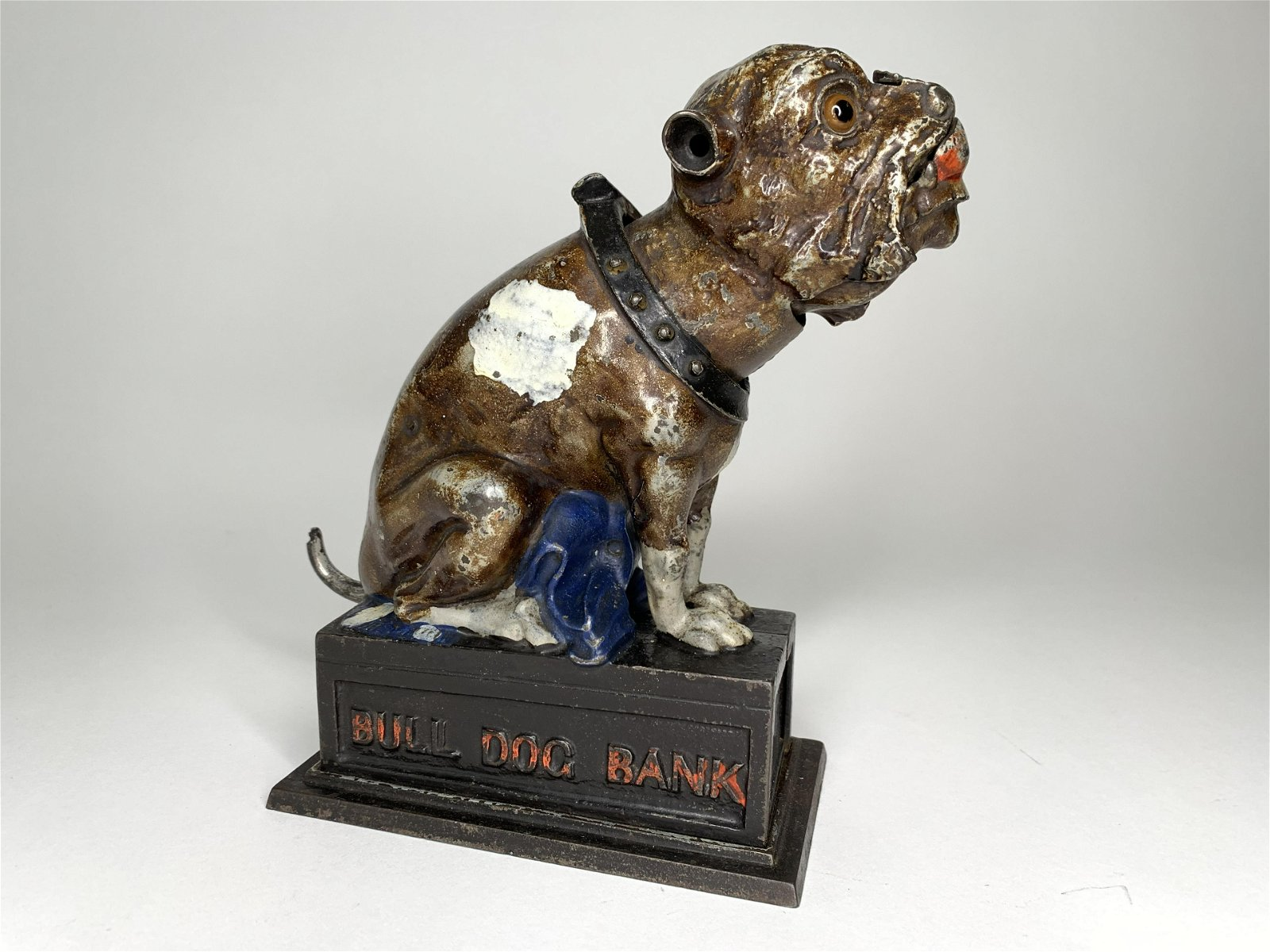 Seated Bulldog Mechanical Cast Iron Bank