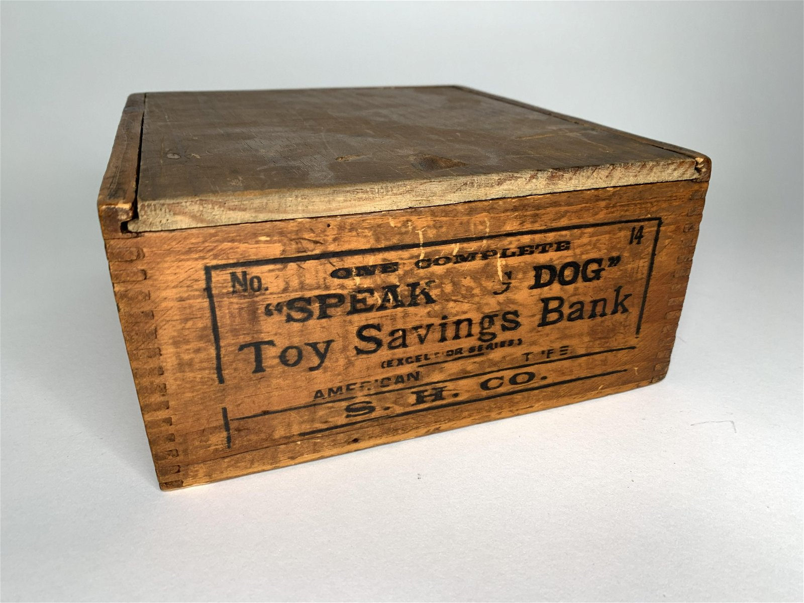 Original Box for Cast Iron Speaking Dog Bank