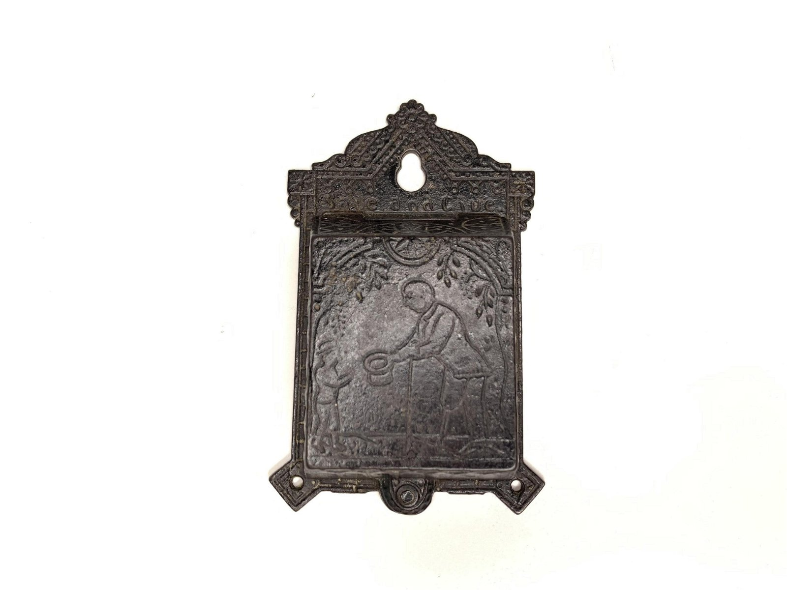 Save and Give Cast Iron Hanging Still Bank