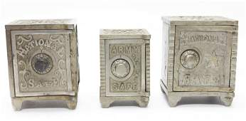 Two National Safes and Army Safe Iron