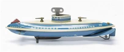 Wolverine Submarine Windup Tin Toy