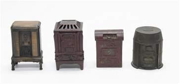 Two Stoves Mail Box  Radio Iron Banks