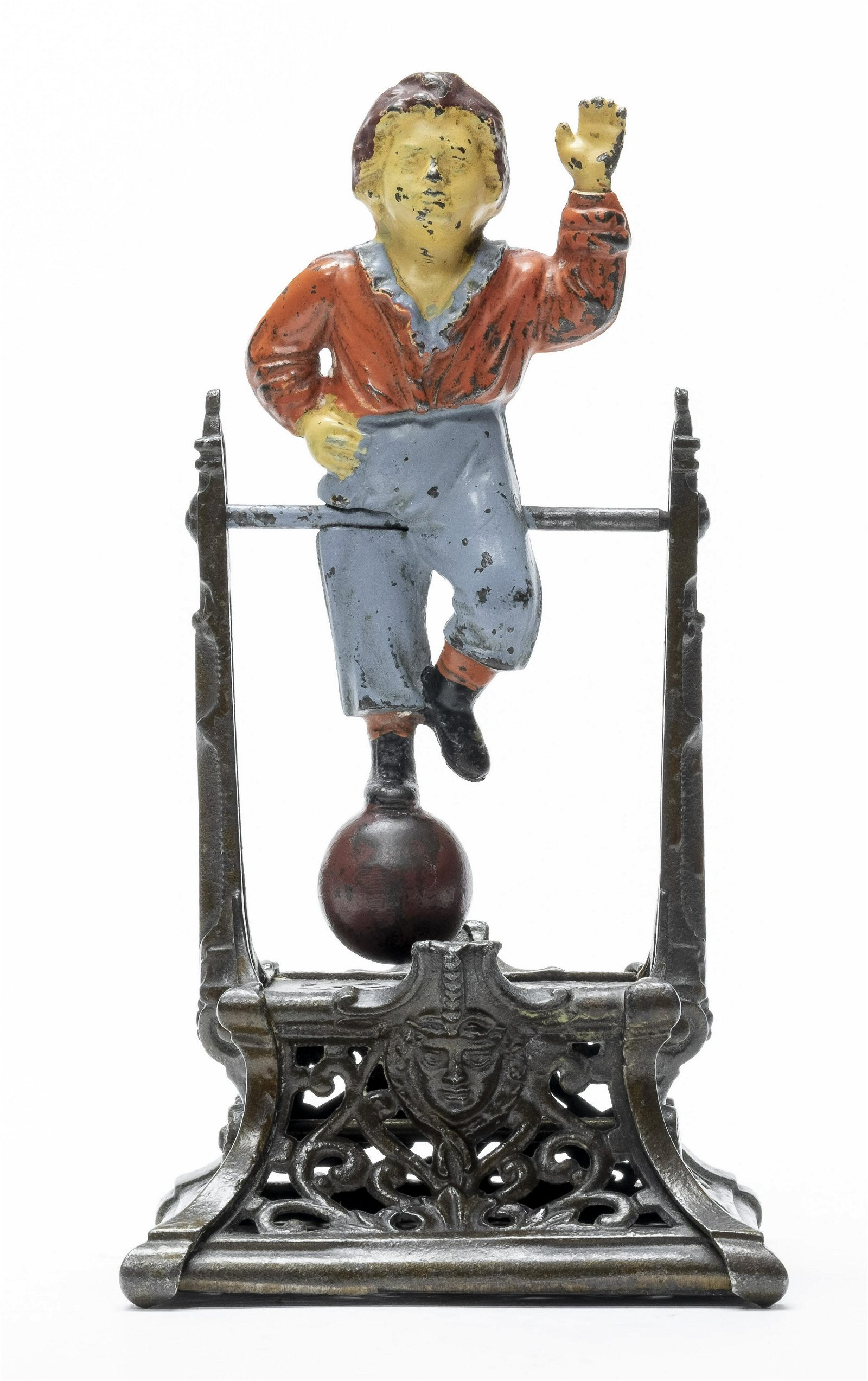 Boy on Trapeze Cast Iron Mechanical Bank