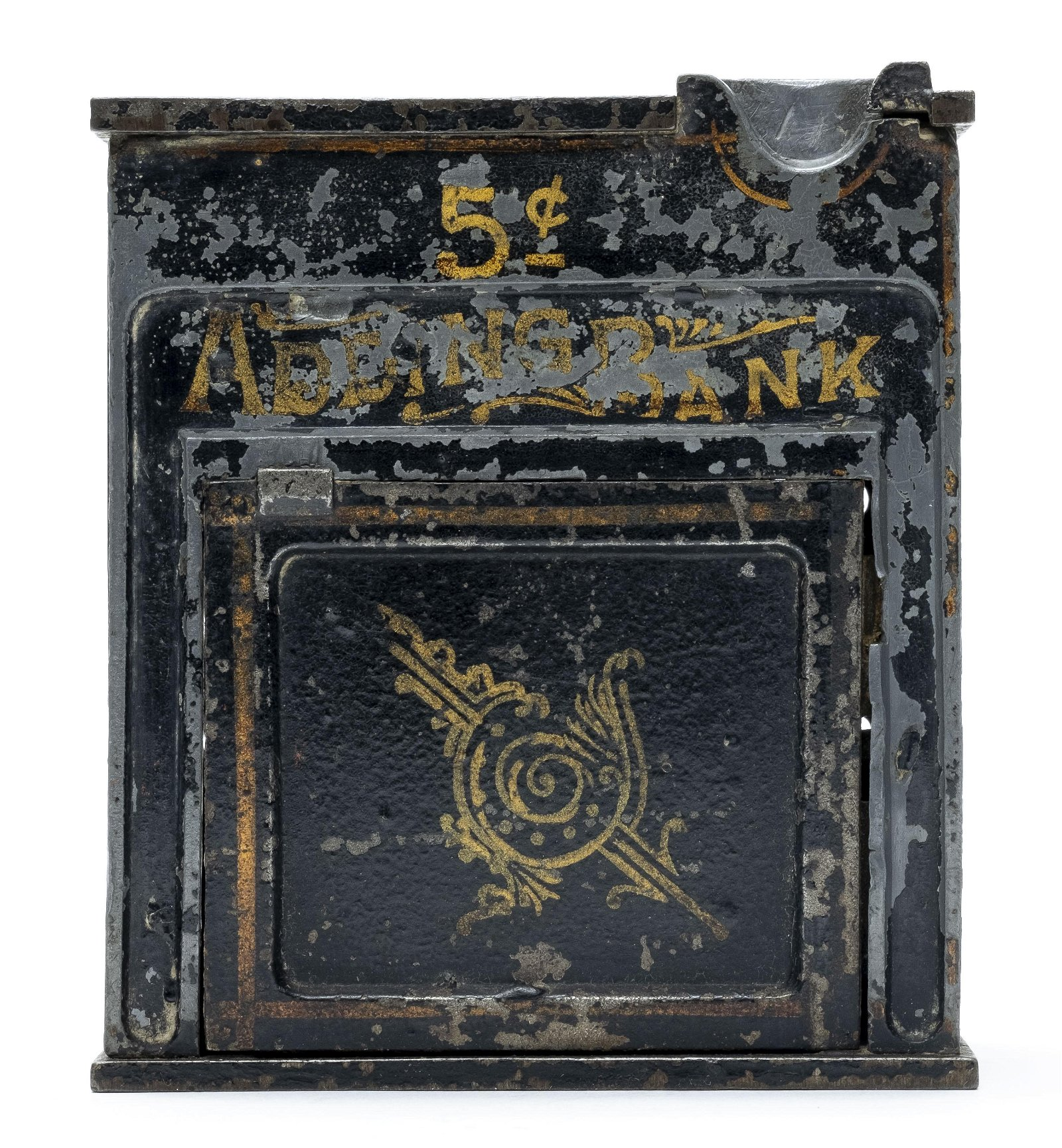 5 Cent Adding  Rare Mechanical Bank