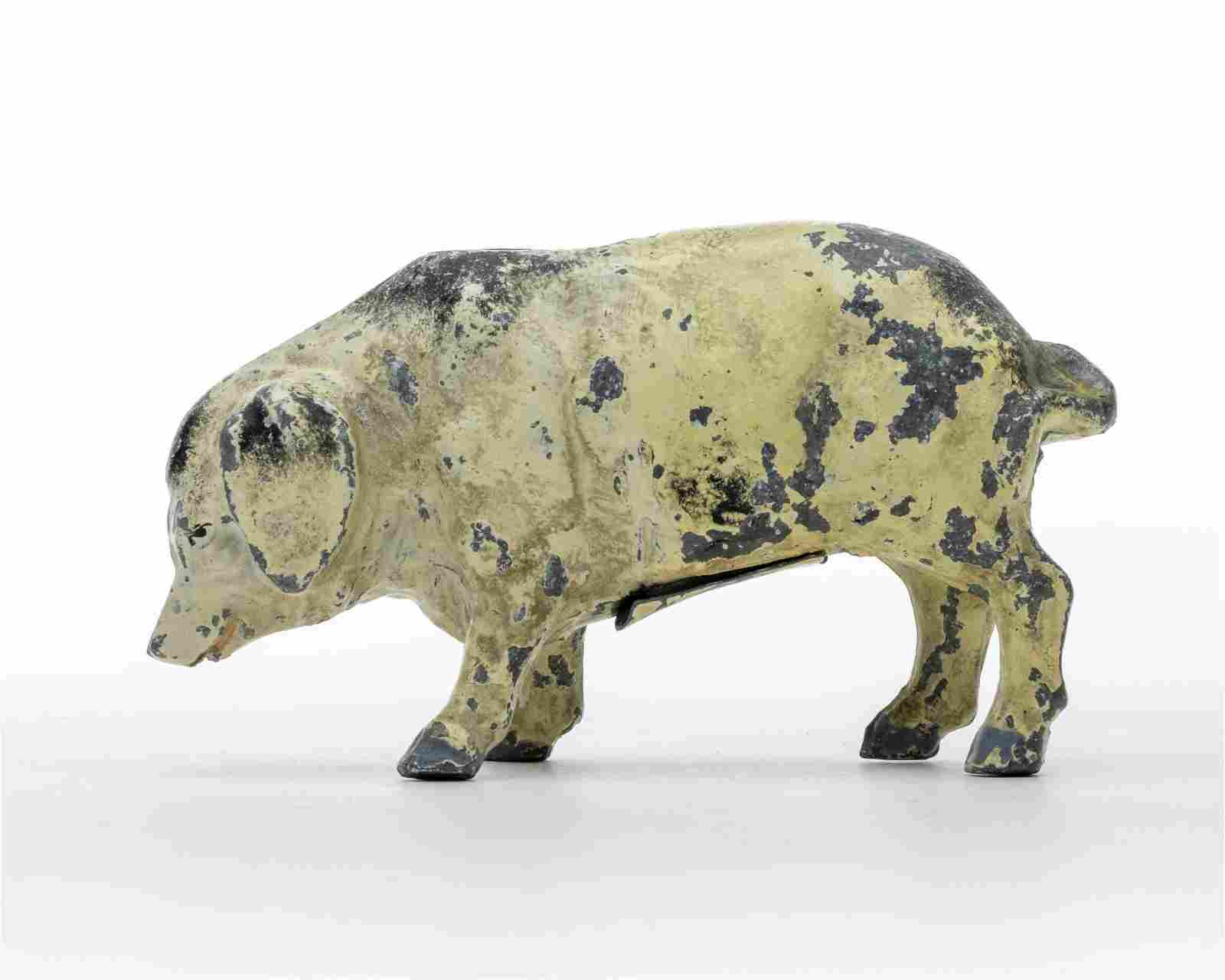 German Aluminum Pig Bank