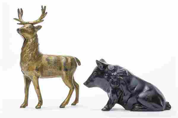 Stag & Pig with Bow Iron Banks