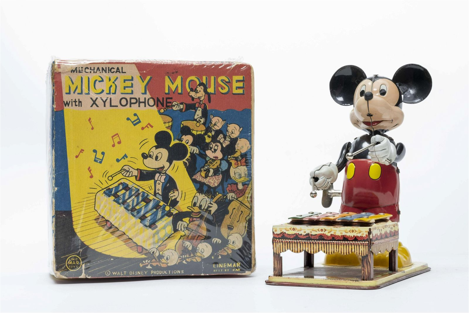 Line Mar Mickey Mouse w/ Xylophone Windup Japan