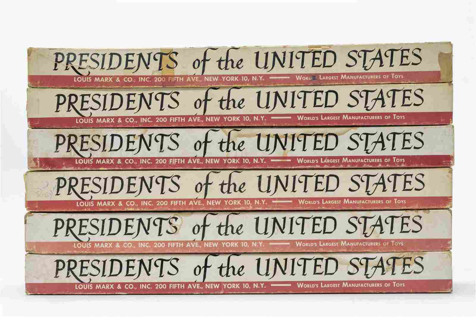 Six Boxed Marx Presidents of the United States
