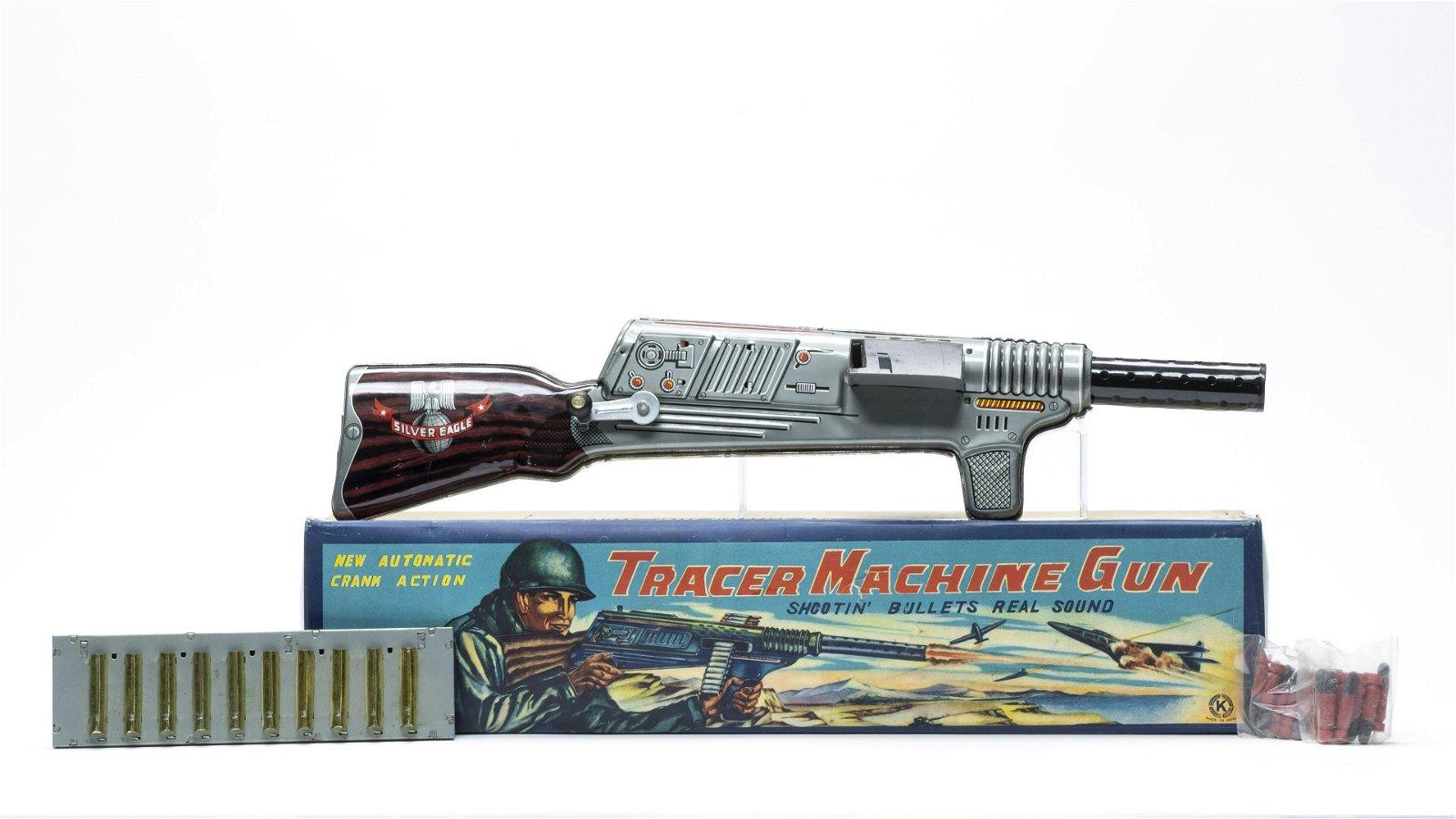 Tracer Machine Gun Japan Tin Toy