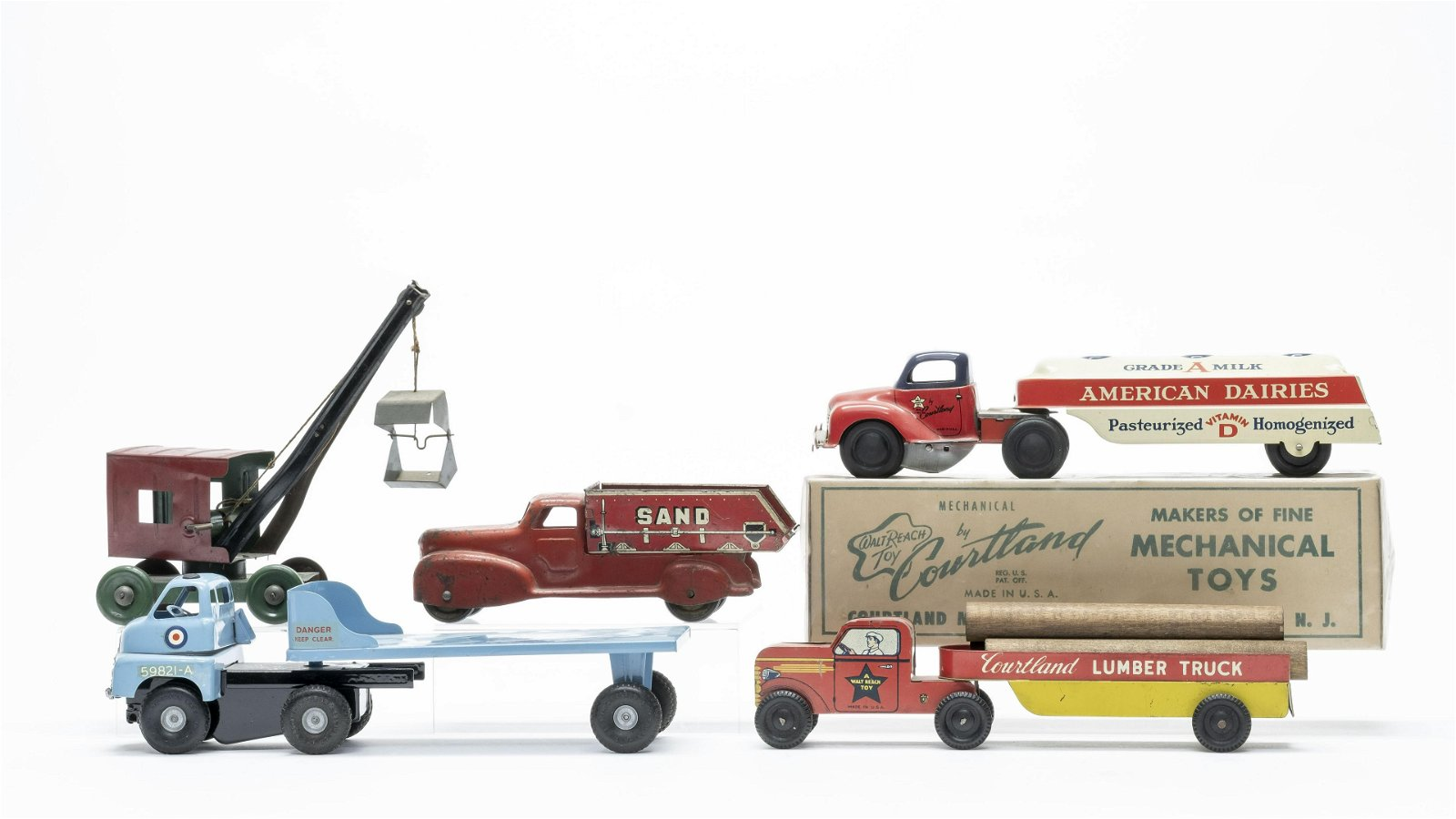 Group of 5 Commercial Vehicle Toys