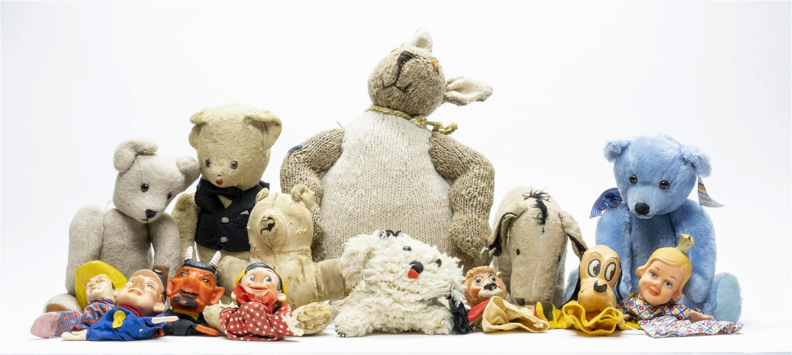 Large Group of Stuffed Animals and Finger Puppets