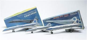 Three Pan Am Daiya Airplane Toys