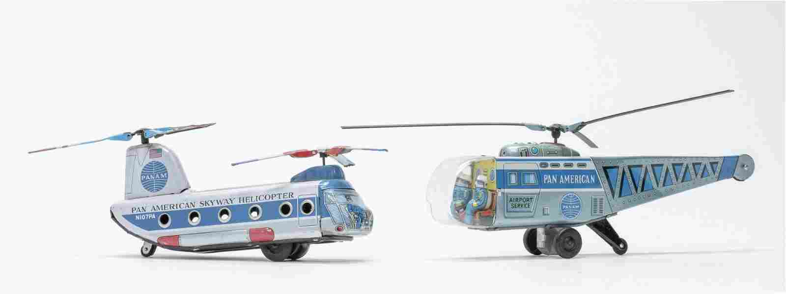 H Toy / Daiya Pan Am Helicopter Toys Rare