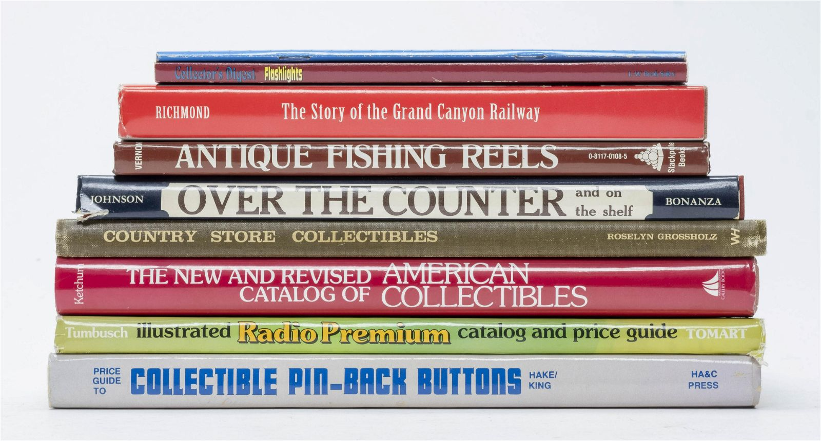 Group of 9 Reference Books Fishing