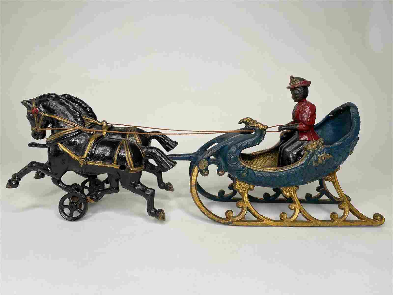 Woman in Horsedrawn Sleigh