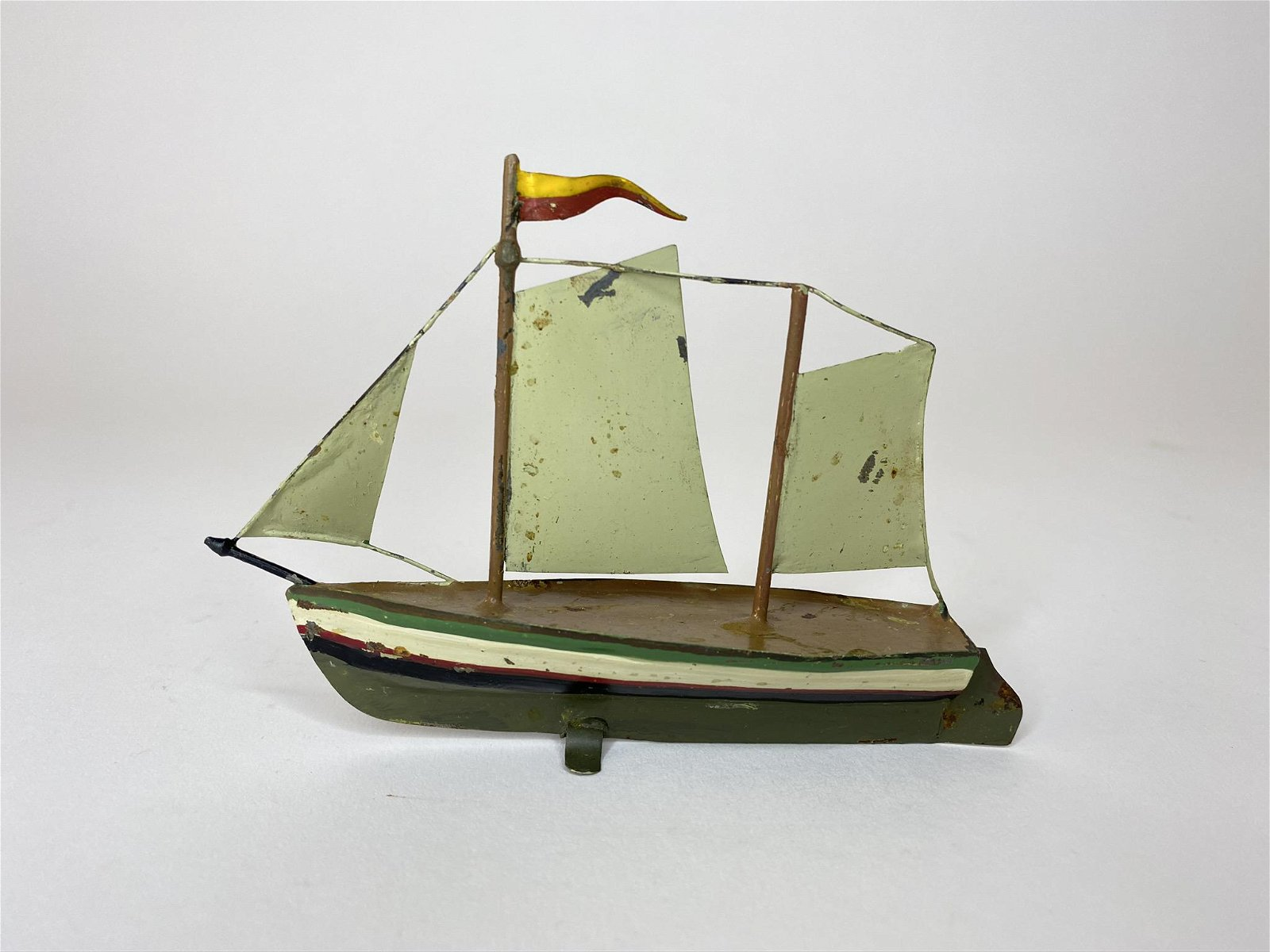 Early Ishmayer Double Masted Sailboat