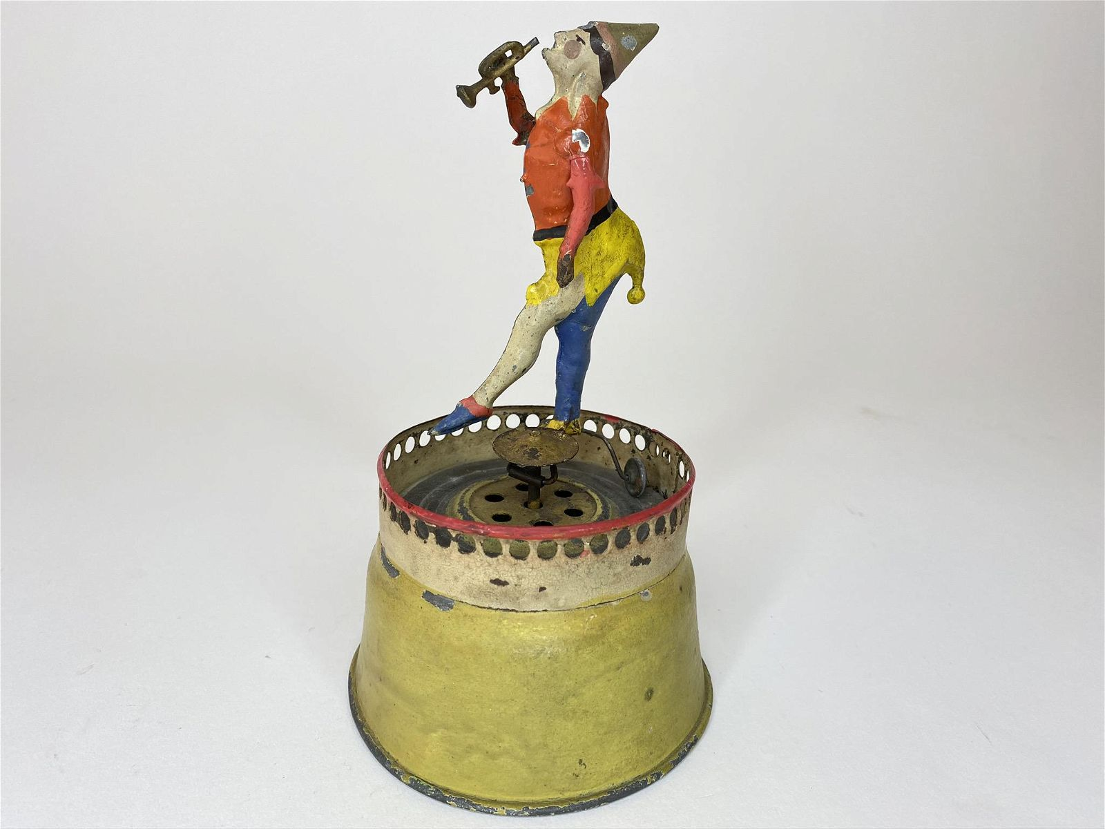 Clockwork Hand Painted Clown with Trumpet