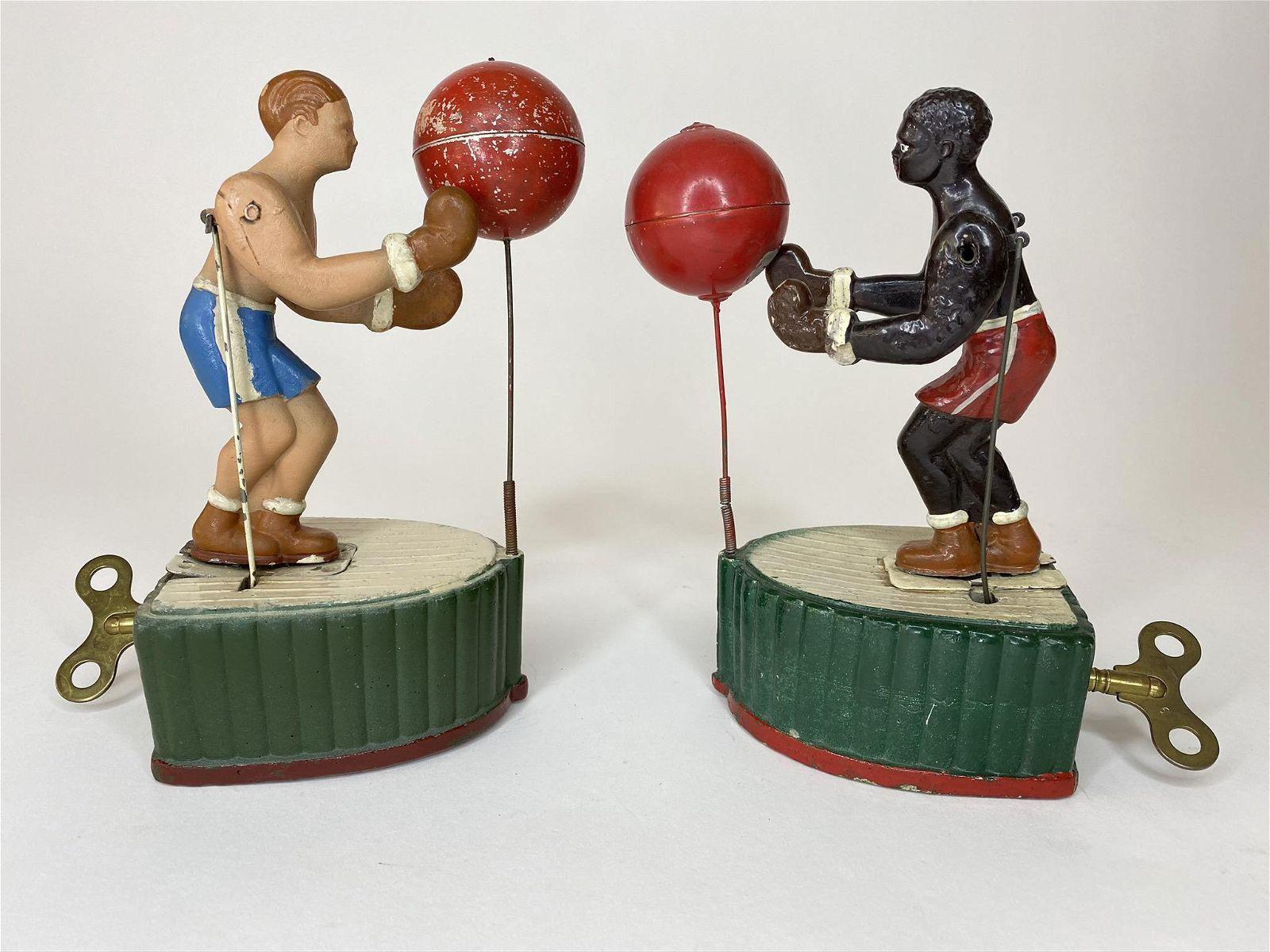 Joe Lewis Vs. Max Schmeling Boxer Wind-up Toy