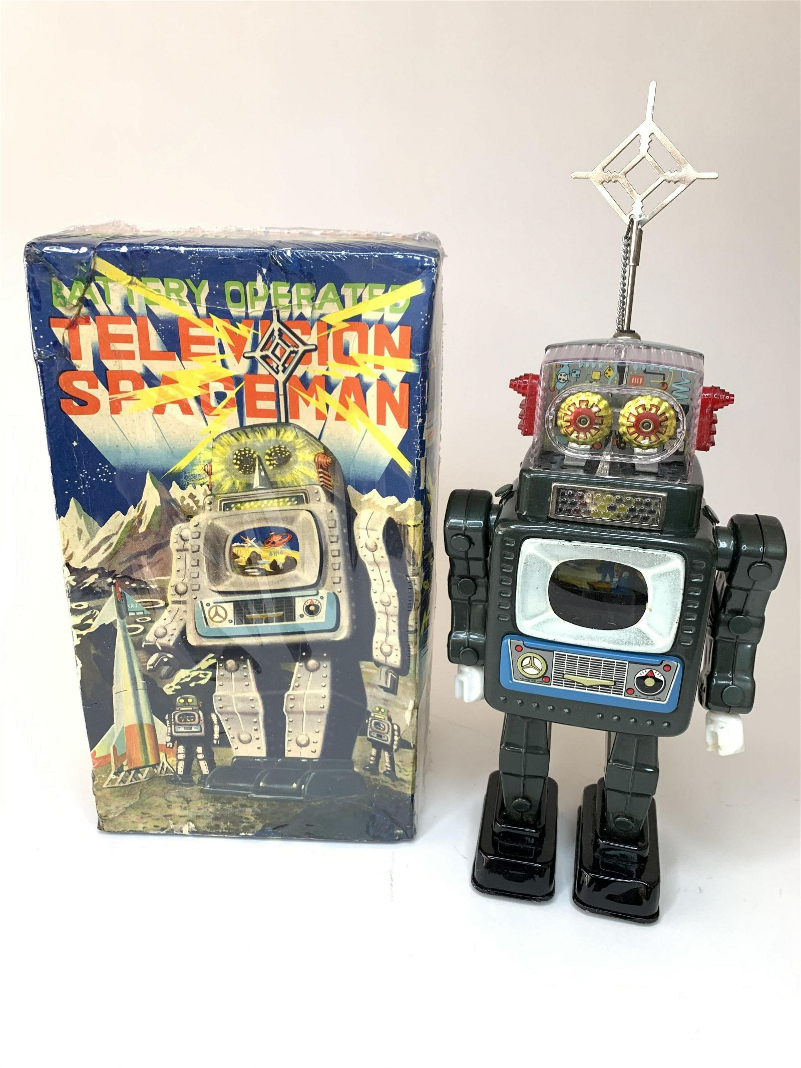 Battery Operated Television Spaceman Metal Version