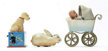Three Tin Toys