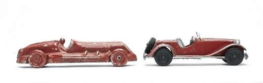 Two Aluminum Cars Hubley