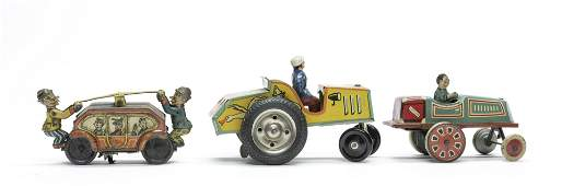 Three German Windup Tin Toys