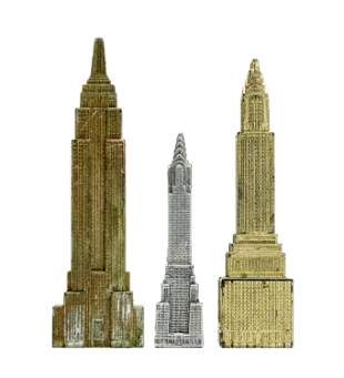 Two Chrysler and One Empire State Souvenirs
