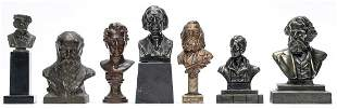 Seven Literary Themed Souvenir Busts