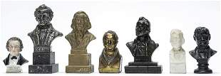 Seven Composer Themed Souvenir Busts