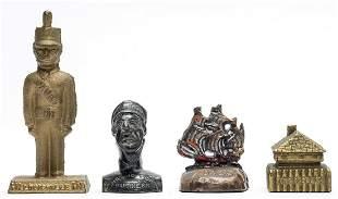 Four Souvenir Paperweights