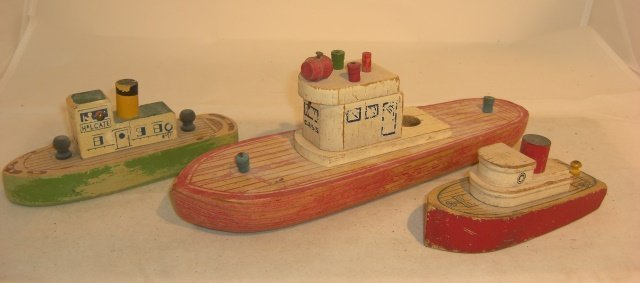3 WOODEN BOATS
