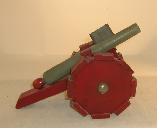 WOODEN, WHEELED, CANNON