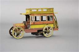 Windup 5 Cent Toy Double Decker Bus