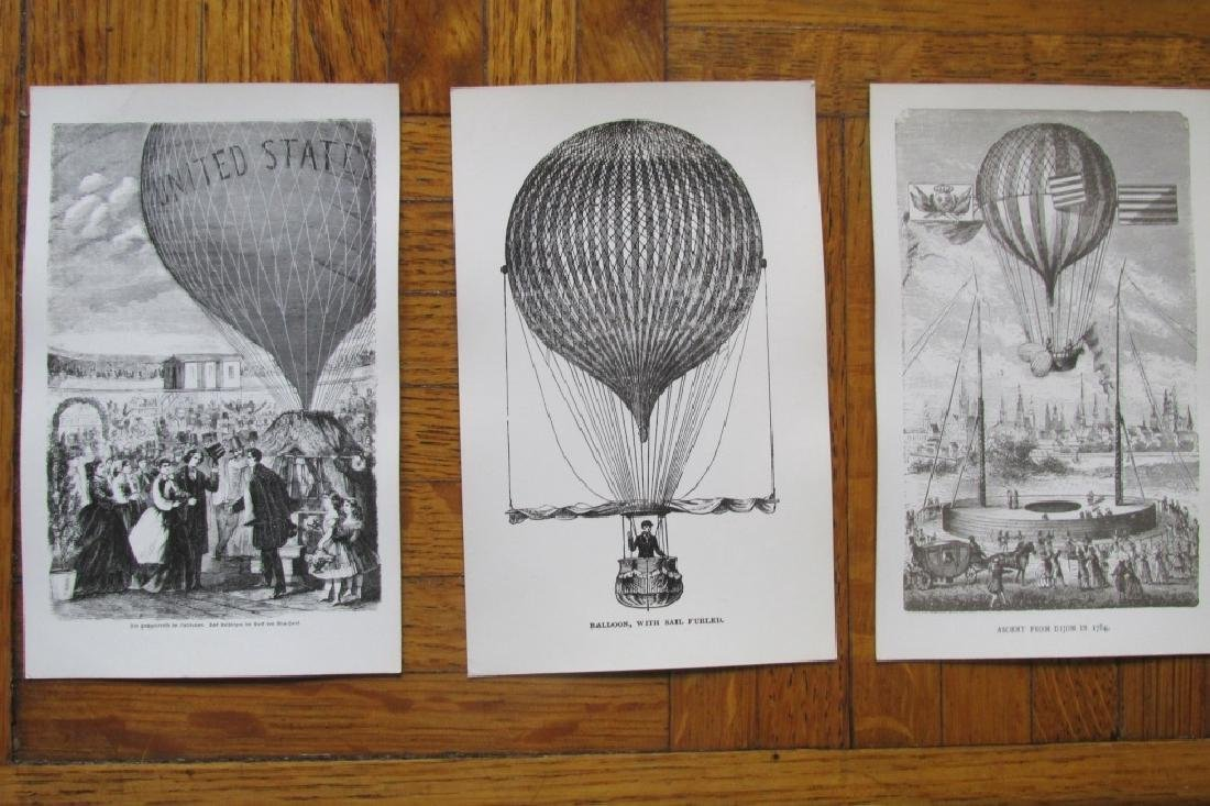 Group of 8 Historical Balloon Postcards