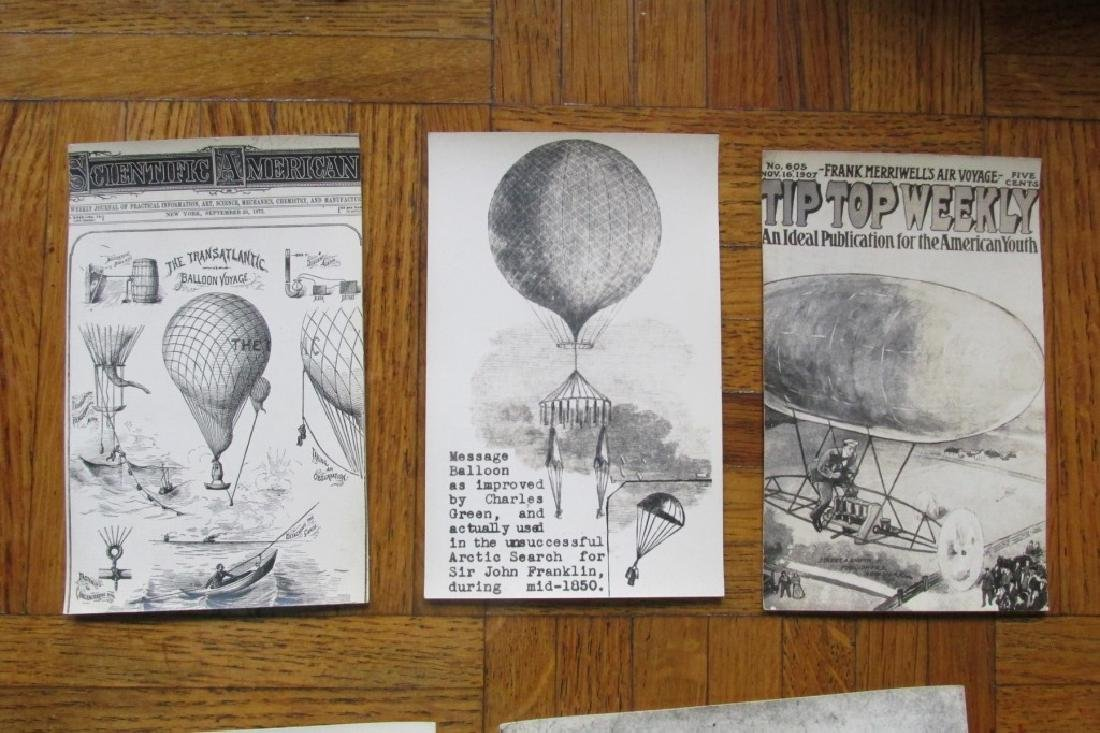 Group of 7 Historical Balloon Postcards
