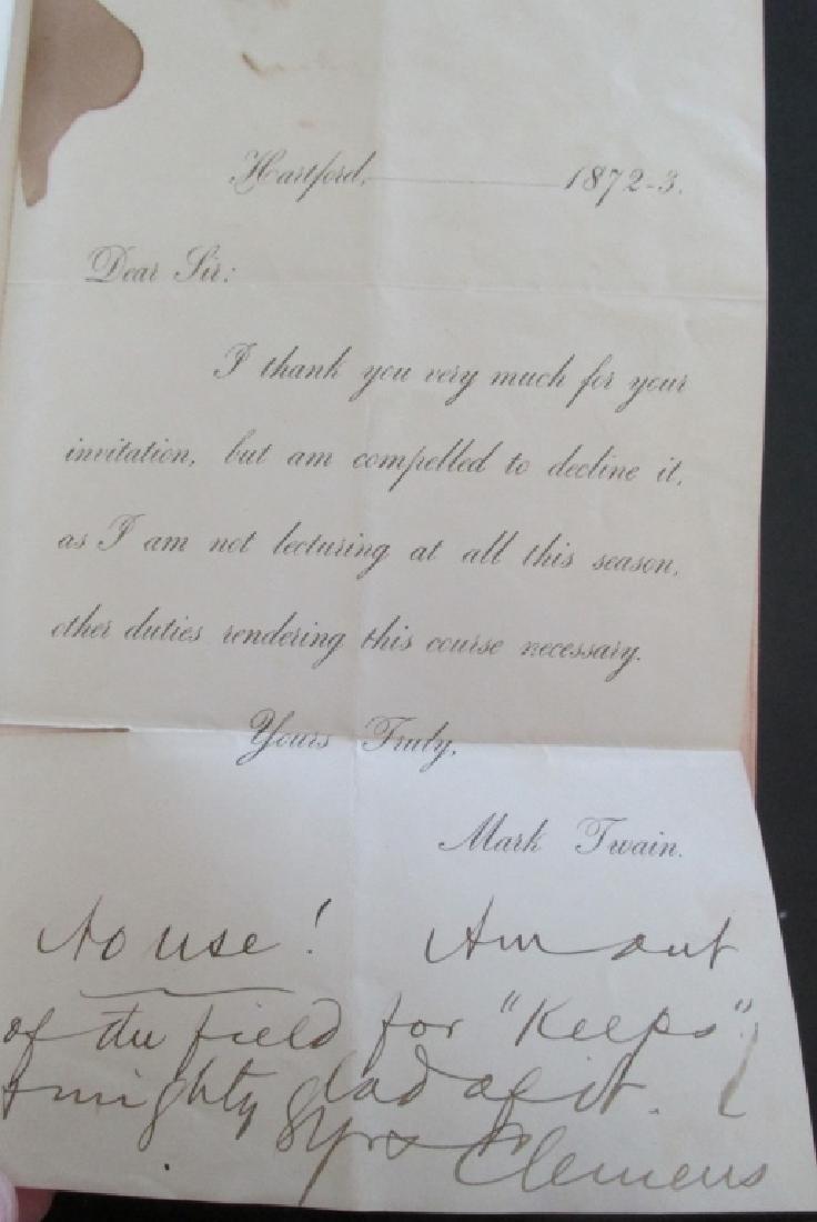 Mark Twain Letter & 25 Volume Set