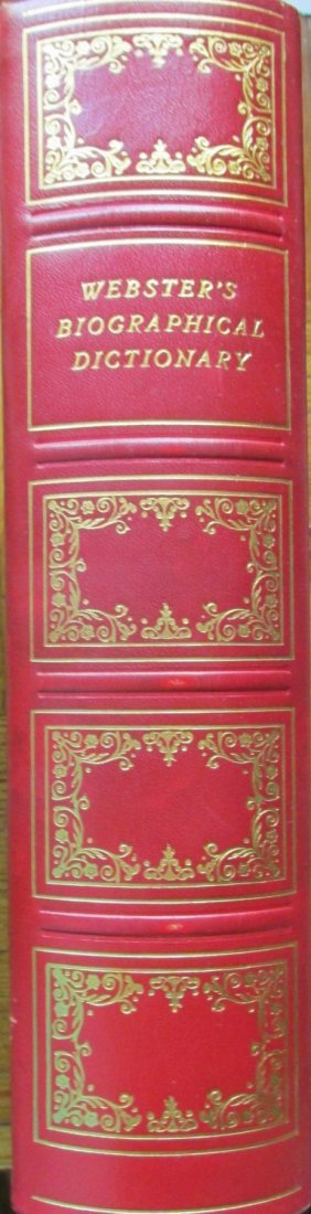 Webster's Dictionaries - Fine Leather Bindings