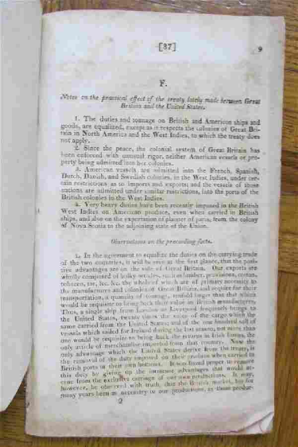 Nautical Treaty - United States & Britain 1816