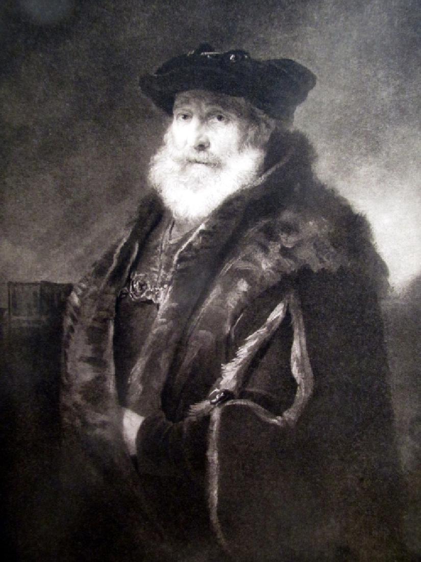 Portrait of a Rabbi - Rembrandt Van Rijn