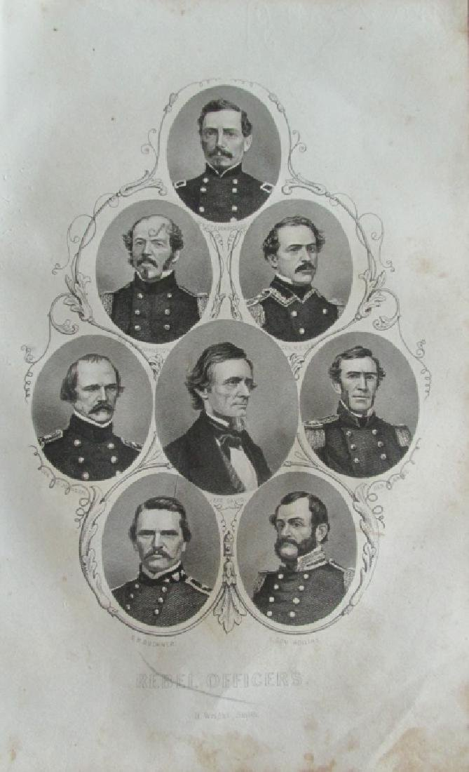Rebel Officers Civil War- C1862