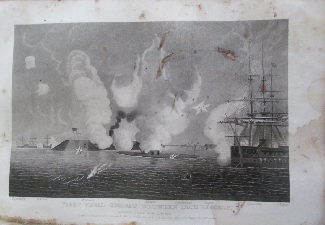 First Combat Between Iron Vessels [Civil War]