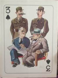 Arias Bernal 1945 Roosevelt Churchill Poster