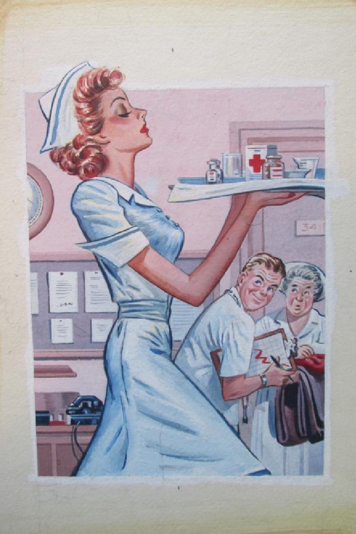 Voluptuous Nurse ~ Original Illustration