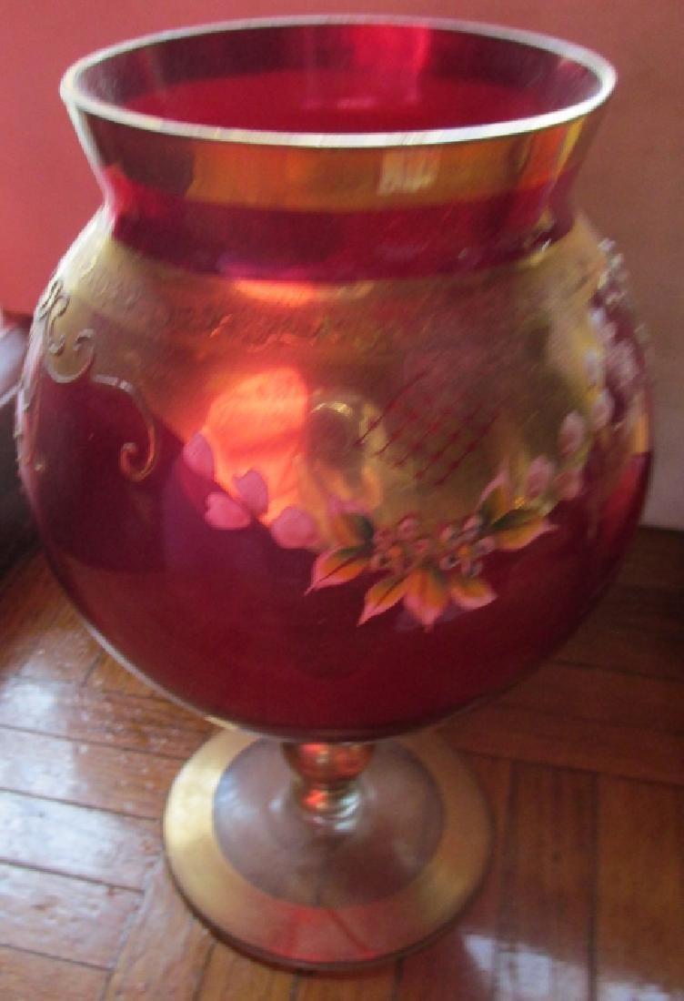 Bohemian Glass Pedestal Bowl