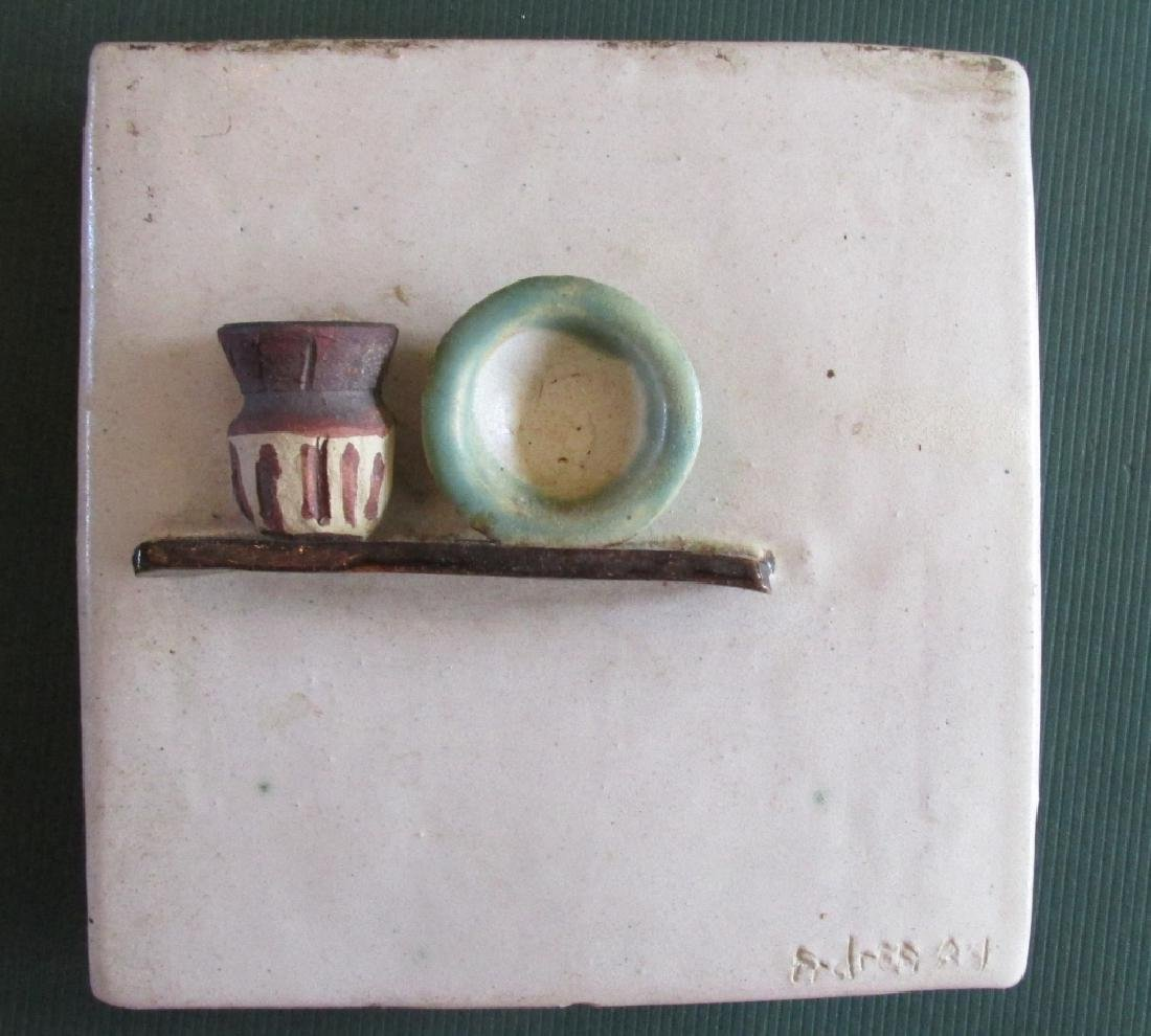 Unusual  Pottery Shelf with Pots